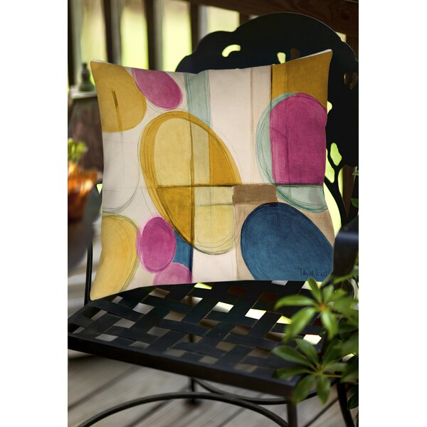Square Geometric Indoor/Outdoor Throw Pillow by East Urban Home