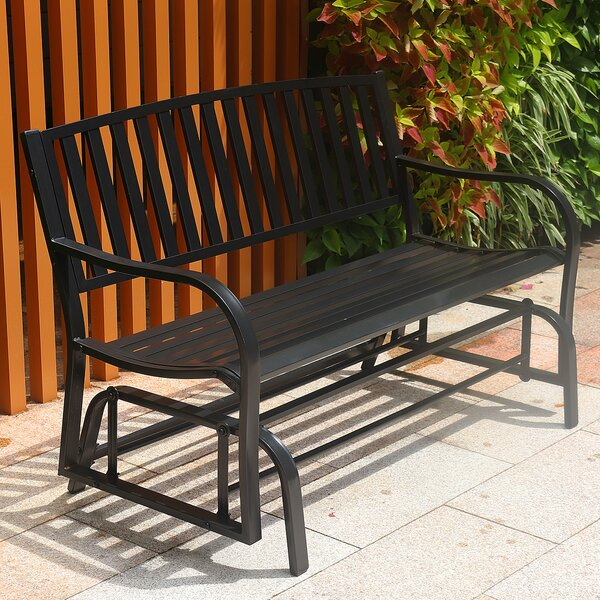 Ventnor Metal Glider Bench By Freeport Park