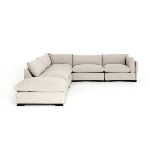 Deals Price Southwold Left Hand Facing Sectional With Ottoman