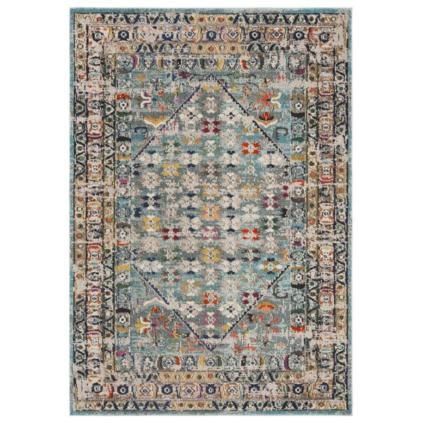 Arianna Blue/Light Gray Area Rug by Bungalow Rose