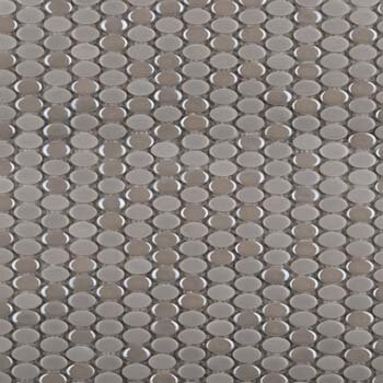 Confetti Porcelain Oval Mosaic Tile in Silver by Emser Tile