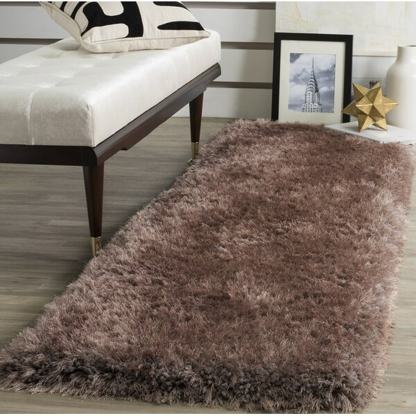 Bevan Shag Hand-Tufted Taupe Area Rug by Mercer41