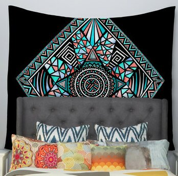 Geo Glass by Pom Graphic Design Wall Tapestry by East Urban Home