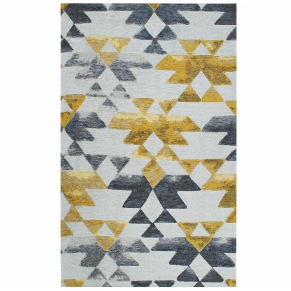 Trujillo Gray/Yellow Area Rug by Brayden Studio