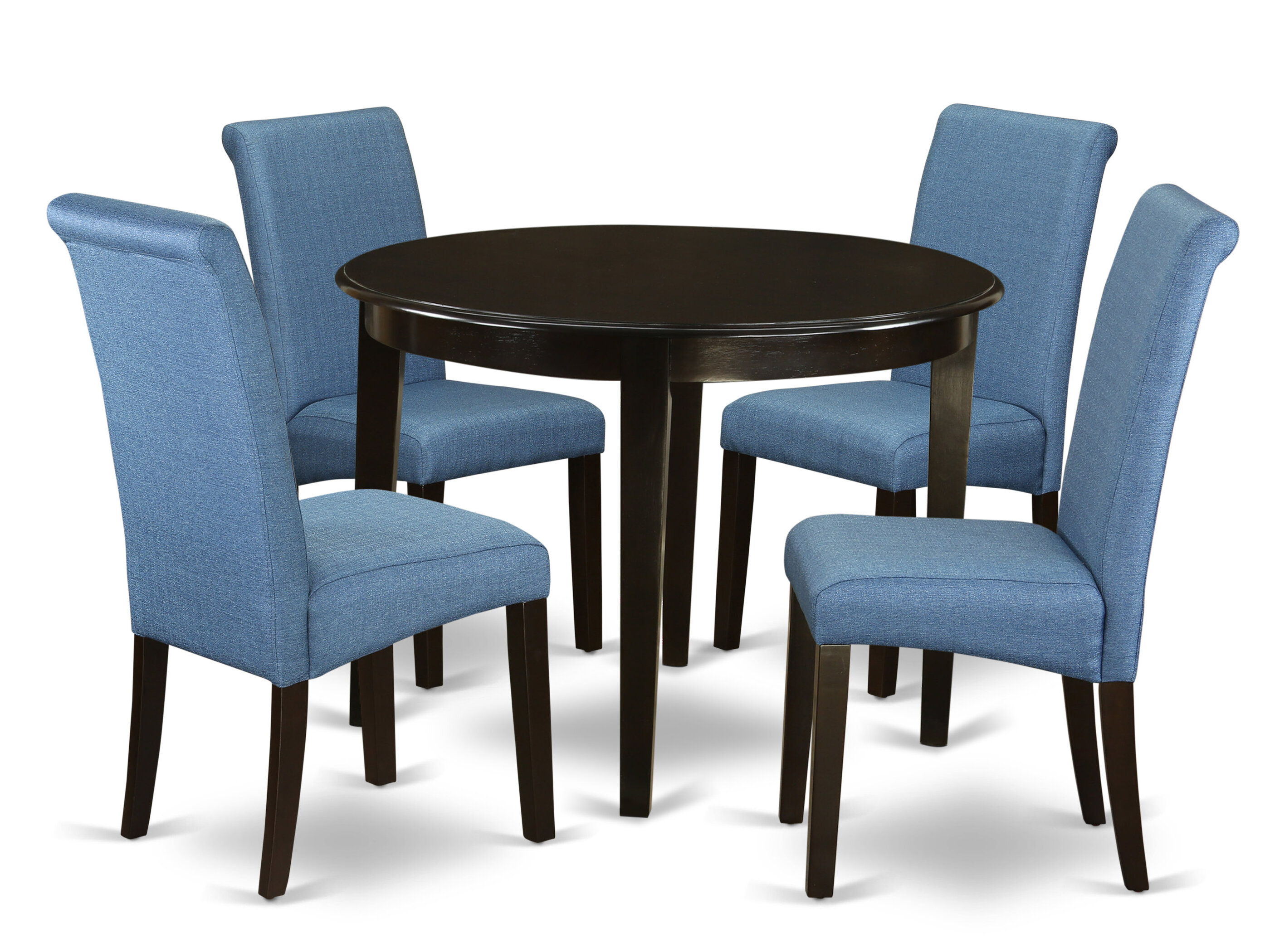 Amya Small Kitchen Table 5 Piece Solid Wood Breakfast Nook Dining Set