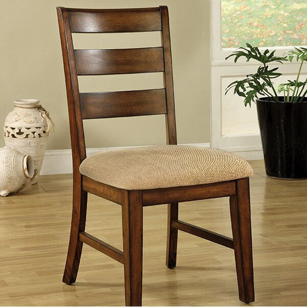 Wikenson Solid Wood Dining Chair (Set of 2) by Loon Peak