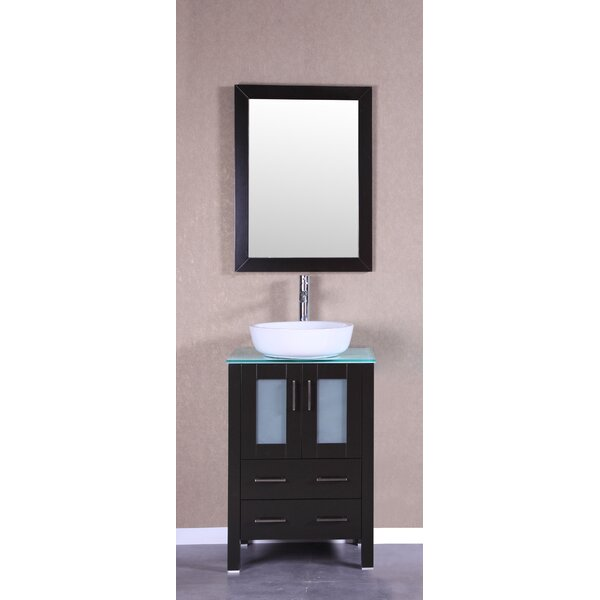 Sirus 24 Single Bathroom Vanity Set with Mirror by Bosconi