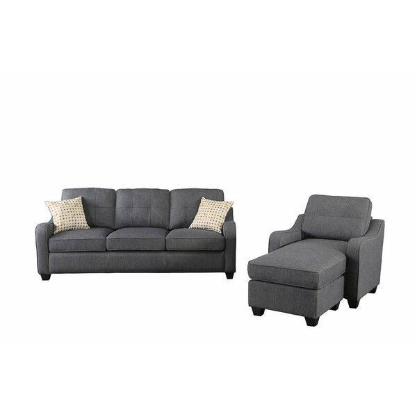 Alanson Reversible Modular Sectional With Ottoman By Wrought Studio