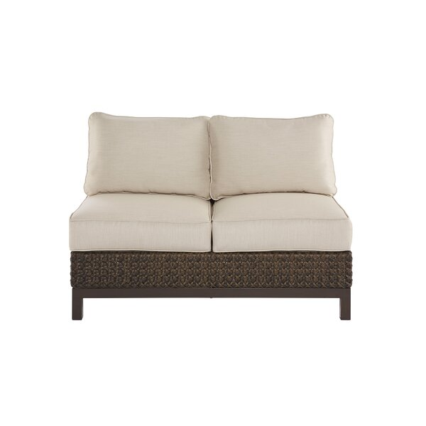 Asphodèle Wicker Patio Loveseat with Cushions by Gracie Oaks