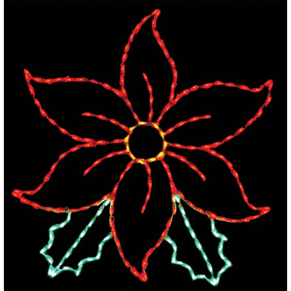 Poinsetta LED Light by Brite Ideas