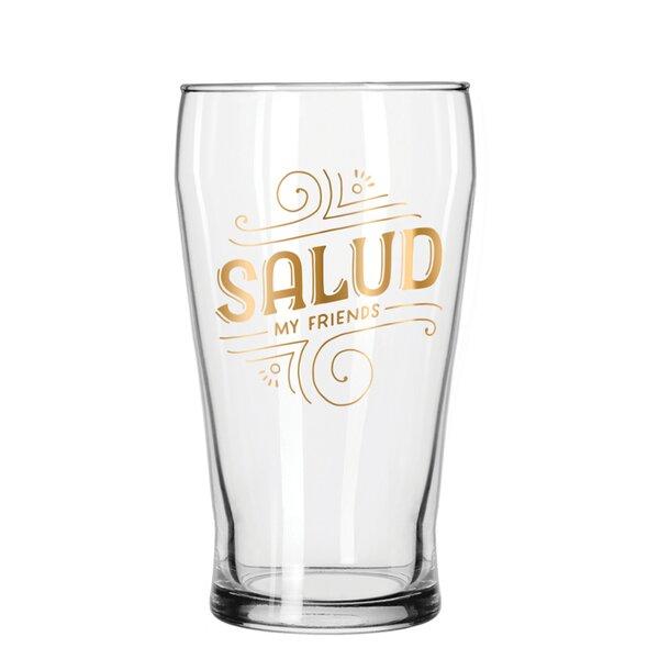 Salud 16 Oz Pub Glass by Easy, Tiger