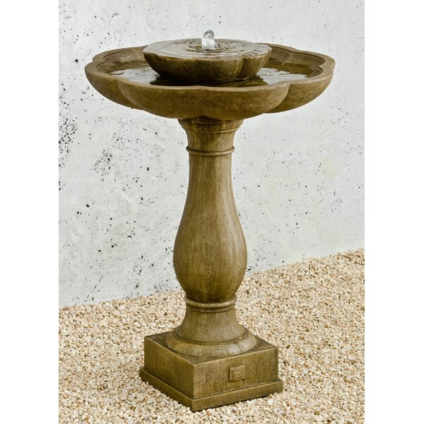 Flores Concrete Pedestal Fountain by Campania International