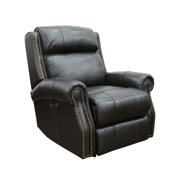 Coldwell Leather Power Recliner Red Barrel Studio W000801570