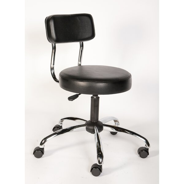Height Adjustable Lab Stool with Backrest by ShopSol