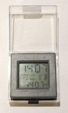 Dual Time Alarm Desktop Clock by Winston Porter