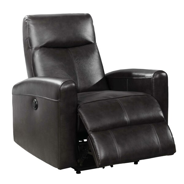 Atia Leather Power Recliner By Latitude Run