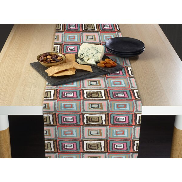Lorenzo Retro Squares Milliken Signature Table Runner by Ivy Bronx