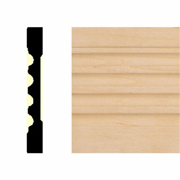 3/8 in. x 3 in. x 7 ft. Basswood Fluted Casing Moulding by Manor House