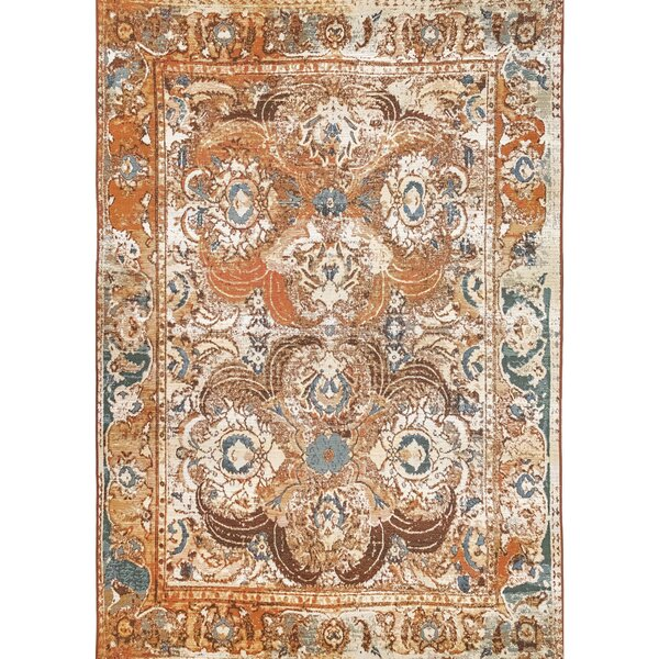 Michaella Kashan Amber Indoor/Outdoor Area Rug by World Menagerie