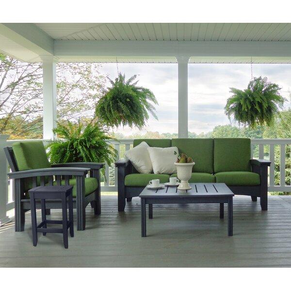 4 Piece Sunbrella Sofa Set with Cushions by Hershy Way