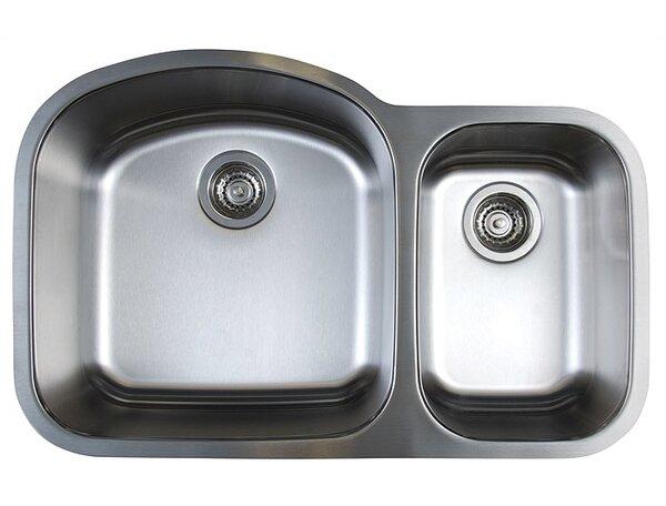Stellar 31.75 L x 20.5 W Double Bowl Undermount Kitchen Sink by Blanco