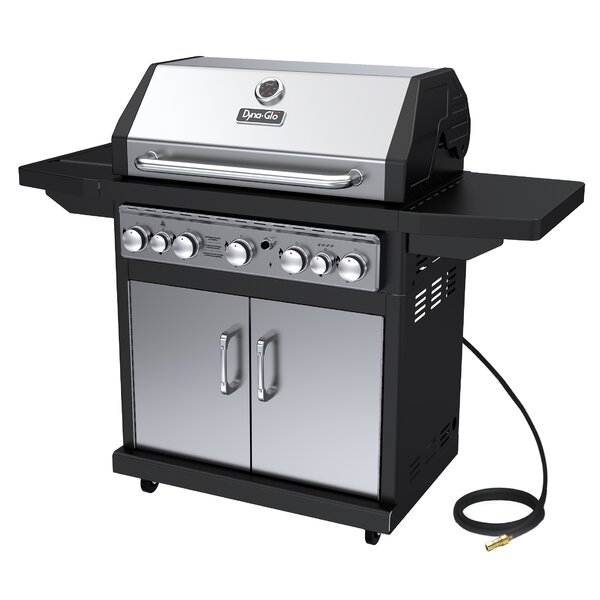 5-Burner Natural Gas Grill with Side Burner by Dyna-Glo