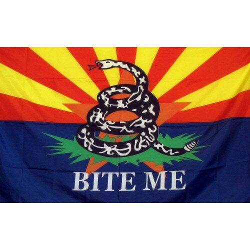 Arizona Bite Me Traditional Flag by NeoPlex