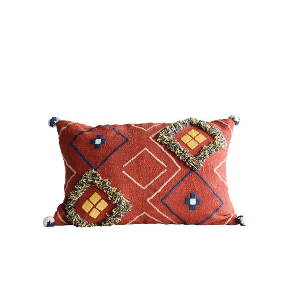 Eiler Cotton Lumber Pillow by Bungalow Rose