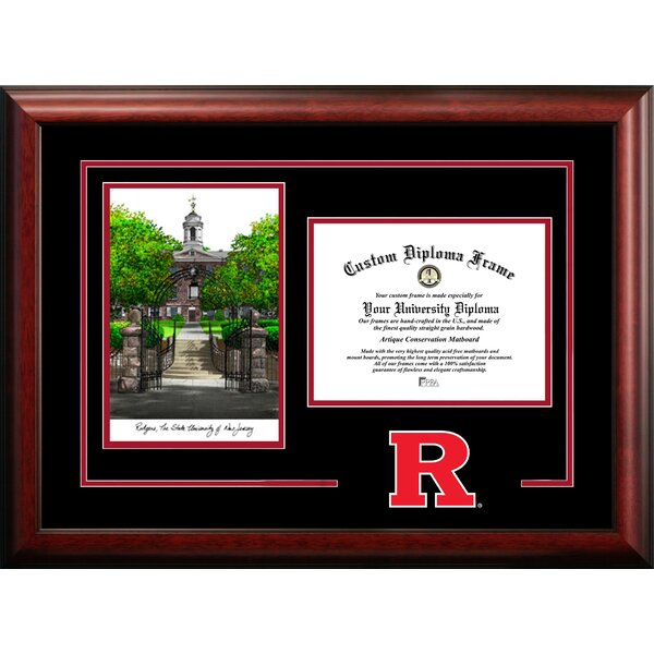 NCAA Rutgers Scarlet Knights Spirit Graduate Diploma Picture Frame by Campus Images