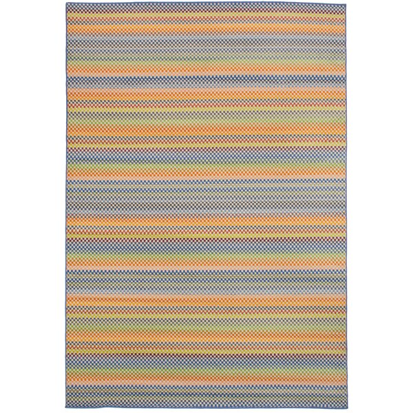 Leeper Blue/Orange Area Rug by Latitude Run