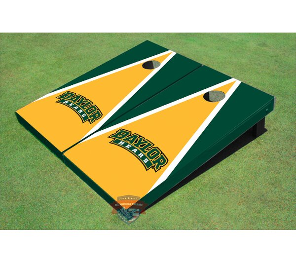 NCAA Matching Triangle Cornhole Board (Set of 2) by All American Tailgate