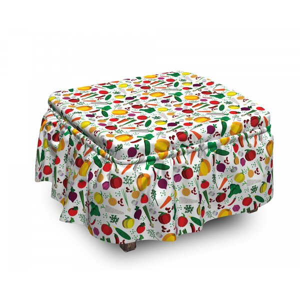 Vegetarian Food Chilli Ottoman Slipcover (Set Of 2) By East Urban Home