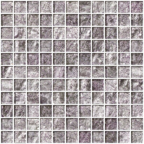 1 x 1 Glass Mosaic Tile in Lavender Pearl by Susan Jablon