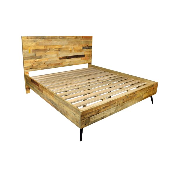 Coda Platform Bed with Iron Legs by Foundstone