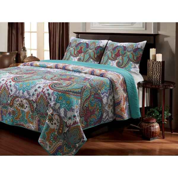 Roskilde Cotton Reversible Quilt Set by World Menagerie