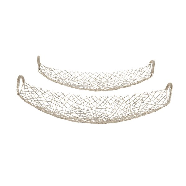 2 Piece Stainless Steel Canoe Tray Set by Cole & Grey