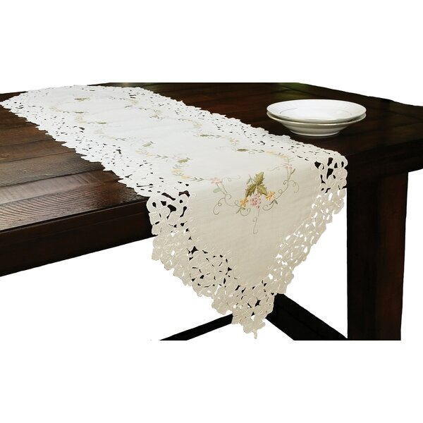 Bordeaux Embroidered Cutwork Table Runner by Xia Home Fashions