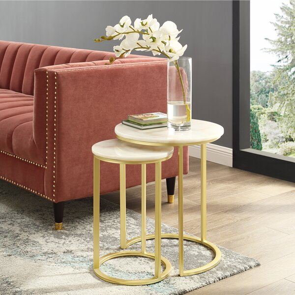 Kayson Round 2 Piece Nesting Tables by Everly Quinn