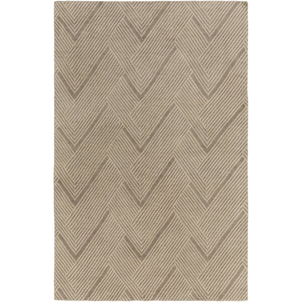 Clive Hand-Tufted Wool Light Brown Area Rug by Dwe