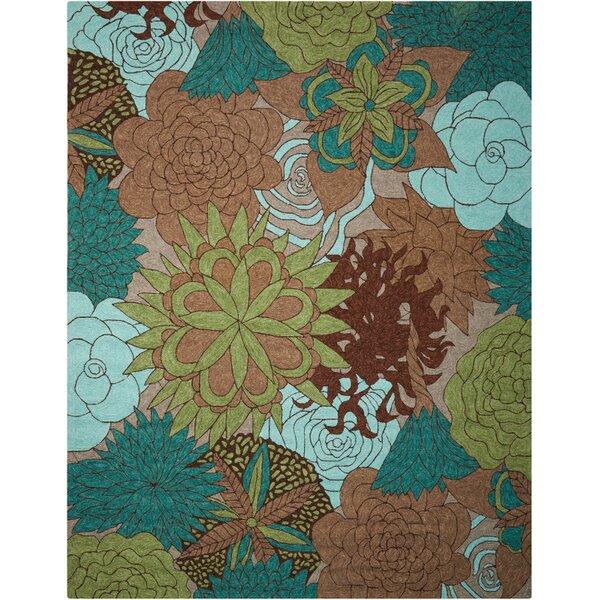 Marcene Hand-Woven Blue/Green/Brown Indoor/Outdoor Area Rug by Red Barrel Studio