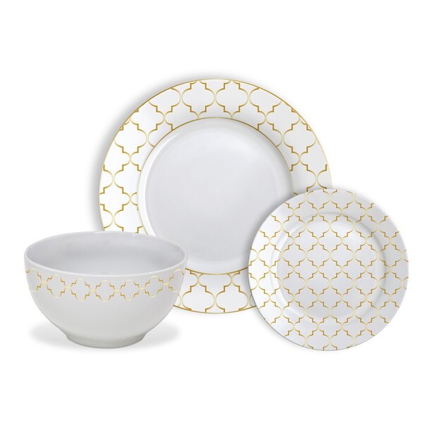 Roque Jacquard 12 Piece Dinnerware Set, Service for 4 by Mercer41