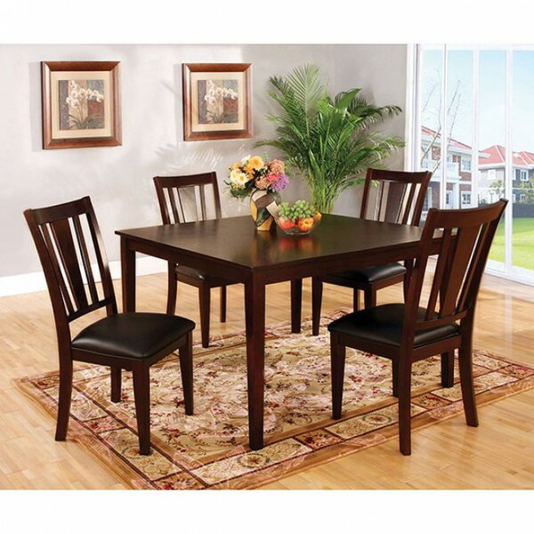 Megerle Transitional 5 Piece Solid Wood Dining Set by Red Barrel Studio