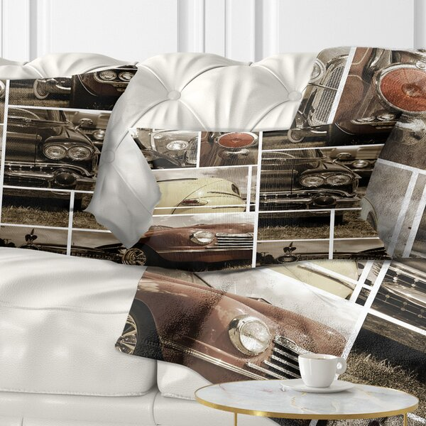 Abstract Classic Car Collection Collage Lumbar Pillow by East Urban Home