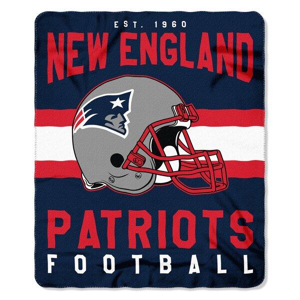 NFL New England Patriots Printed Fleece Throw by Northwest