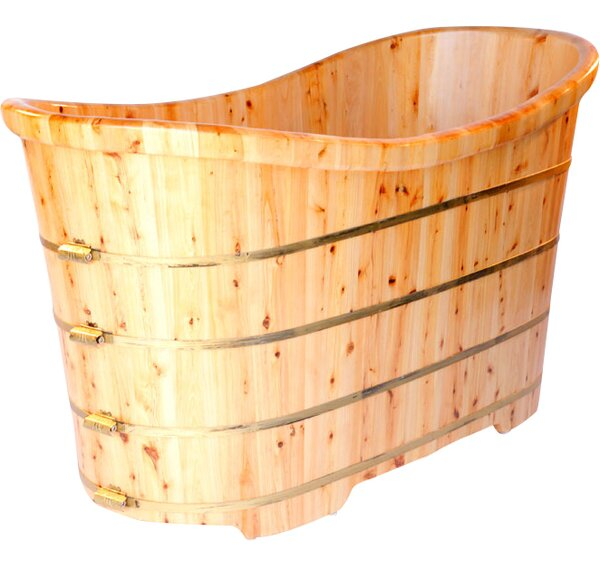 63 x 28.38 Freestanding Soaking Bathtub by Alfi Brand