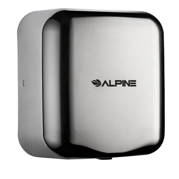 Hemlock High Speed Commercial 110 Volt Hand Dryer in Chrome by Alpine Industries