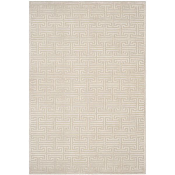 Fogg Tibetan Hand Knotted Pearl Area Rug by Everly Quinn