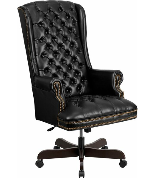 Horne High-Back Tufted Executive Chair by Canora Grey
