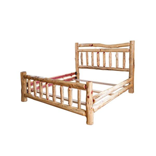 Brockman Rustic Red Cedar Log Standard Bed by Loon Peak