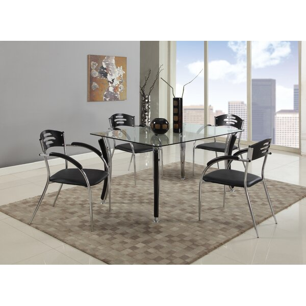 Keanna 5 Piece Solid Wood Dining Set by Orren Ellis